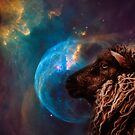 Sheep dreams about cosmos by LoraSi