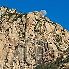 Moonrise on Schnebly Hill Trail by Ray Chiarello
