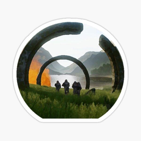 Halo Infinite Circle Ruins/Marines Sticker