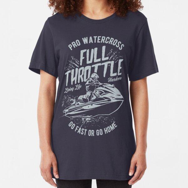 Full Throttle Jet Ski Pro Watercross Slim Fit T-Shirt