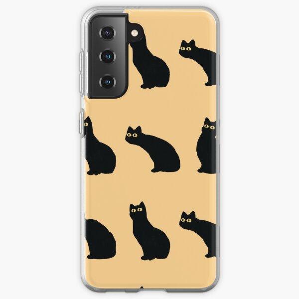 black cat sticker set Samsung Galaxy Soft Case