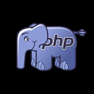 PHP ElePHPant Logo (Centered, Black) by hellkni9ht