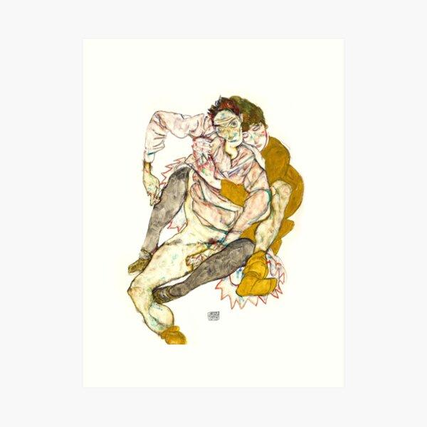 Pareja sentada, Egon Schiele Lámina artística
