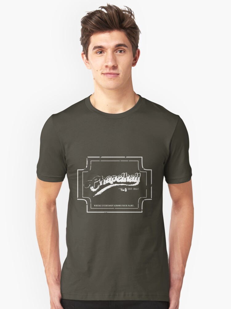 Chapelhall, Where everybody..... Unisex T-Shirt Front