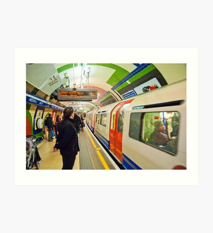 Going Underground: London Piccadily Circus Tube Station Art Print