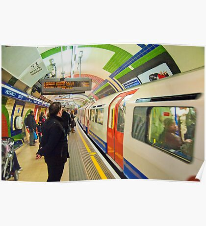 Going Underground: London Piccadily Circus Tube Station Poster
