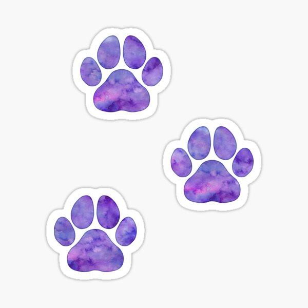 purple watercolor paw prints Sticker