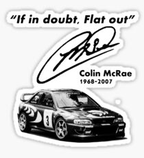 If in doubt, Flat out (with subaru) Sticker