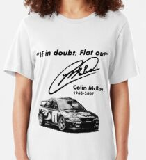 If in doubt, Flat out (with subaru) Slim Fit T-Shirt
