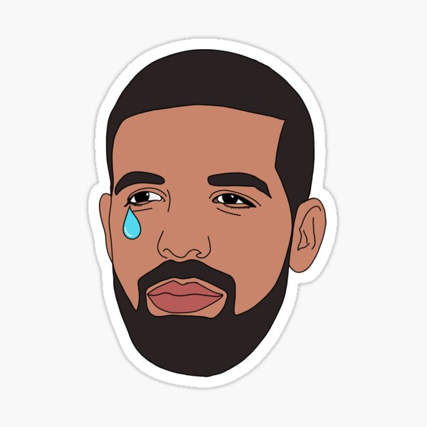 Crying Drake Sticker