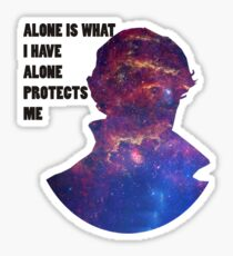 Alone Protects Me Sticker