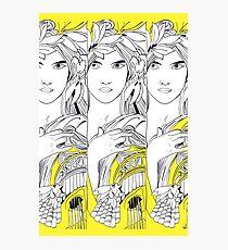 Three Muses Line Art Photographic Print