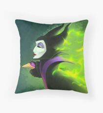 Maleficent - Beautifuly Burning Throw Pillow
