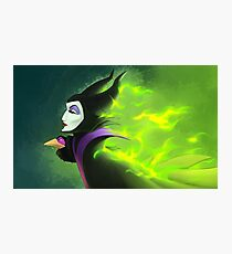 Maleficent - Beautifuly Burning Photographic Print