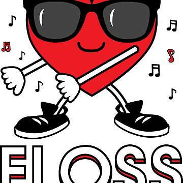 Valentine's Day Floss Flossing Dancing Heart by OldGlory