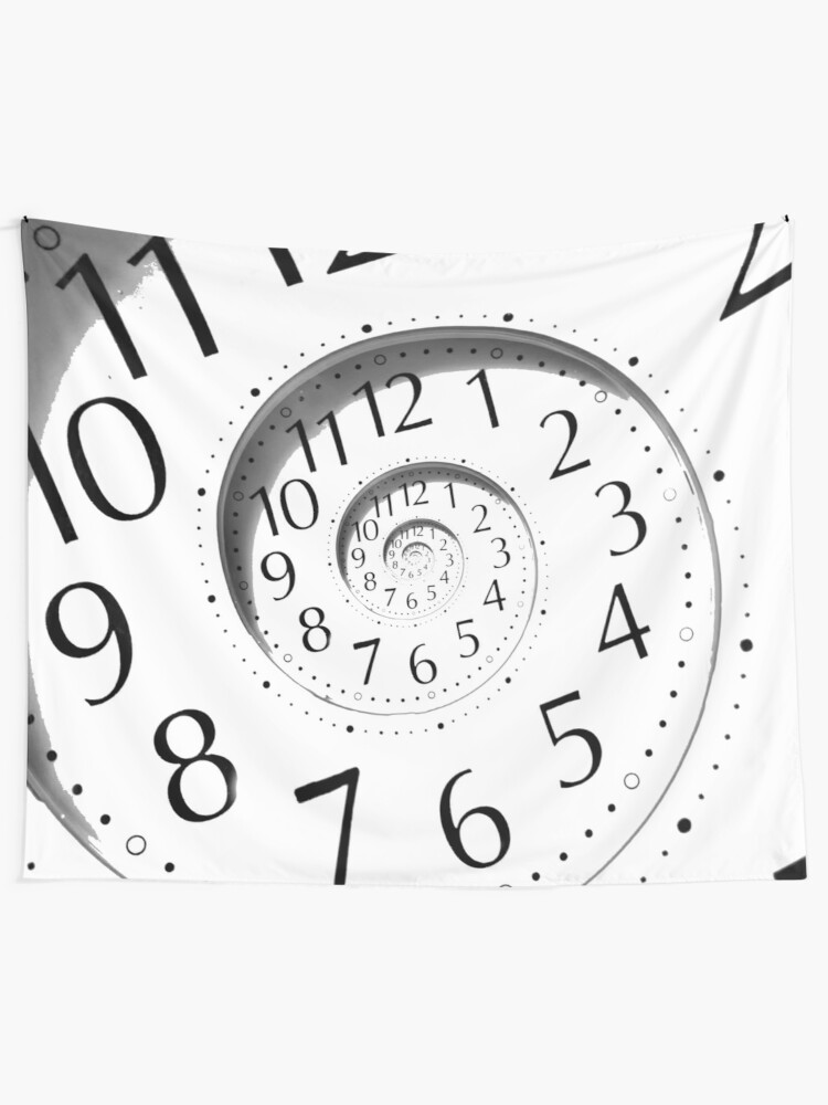 Alternate view of #clock, #watch, #deadline, #timer, #time, countdown, number, alarm clock, dial in, midnight, chronometer, accuracy, dial Tapestry
