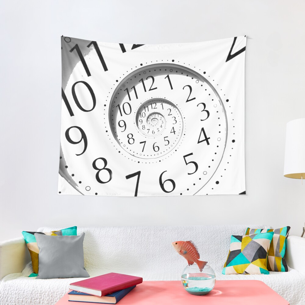 #clock, #watch, #deadline, #timer, #time, countdown, number, alarm clock, dial in, midnight, chronometer, accuracy, dial Tapestry