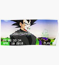 Goku schwarz Ästhetik Poster