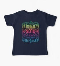 Vintage 2010 9 years old 9th birthday party gift t-shirt Baby Tee