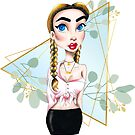 Metro&medio Designs - Braids Pin-up  by metroymedio