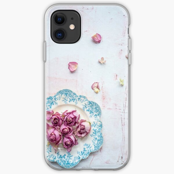Saucer of Roses iPhone Soft Case