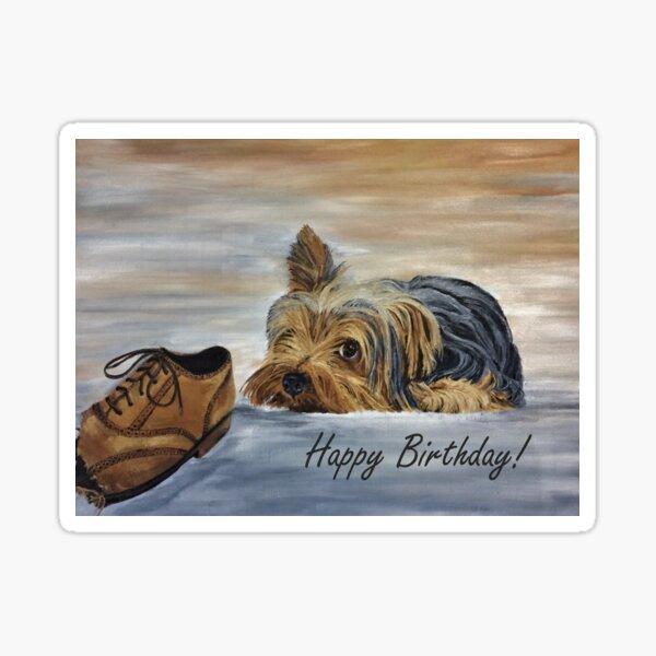 Yorkshire Terrier - Birthday Card Sticker
