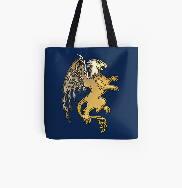 Celtic Knot Griffin All Over Print Tote Bag
