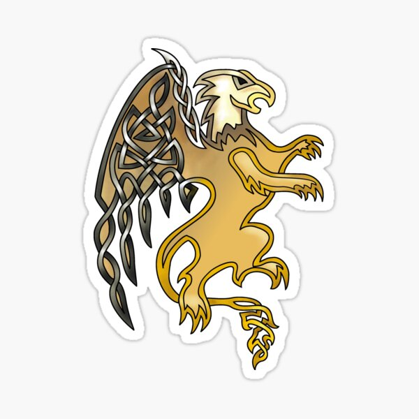 Celtic Knot Griffin Sticker