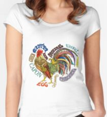 Rooster! Rooster! Women's Fitted Scoop T-Shirt