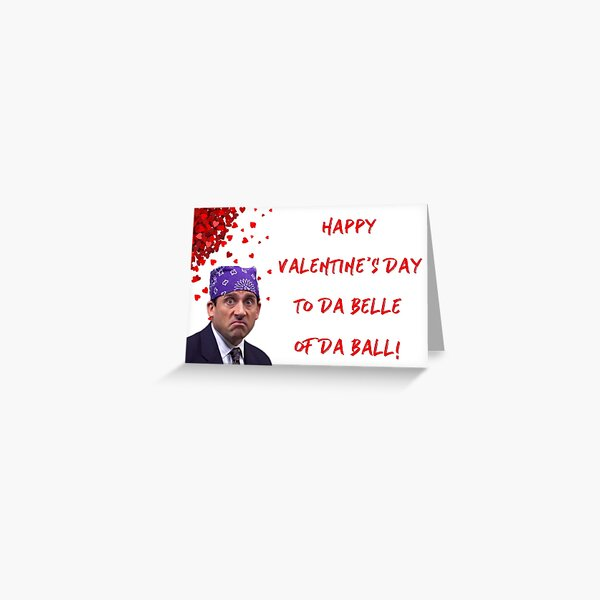 The Office Prison Mike Valentine's day card, Micahel Scott, Boyfriend, Girlfriend, Husband, Wife, Best friend, Friends, Humor, Comedy, Good vibes Greeting Card