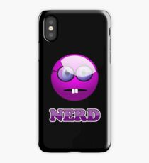 Funny Nerdy Geek Cartoon by 'Chillee Wilson' iPhone Case