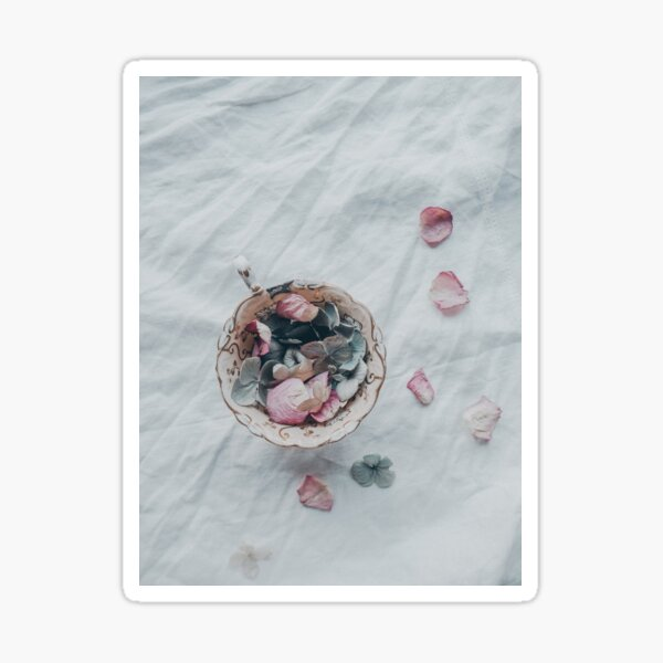 Teacup of Petals Sticker