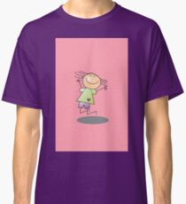 Girl Jumping by Chillee Wilson Classic T-Shirt