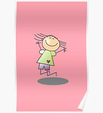 Girl Jumping by Chillee Wilson Poster