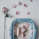 Vintage Bowl and Roses by Tamsyn Morgans