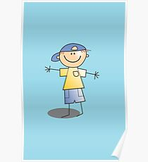 Boy in Cap by Chillee Wilson Poster