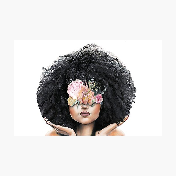 Fro and Flowers Photographic Print