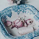 Roses in Vintage Bowl 2 by Tamsyn Morgans