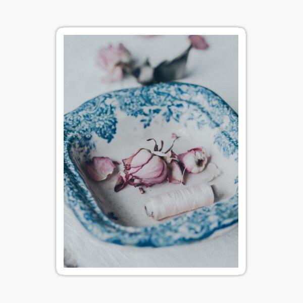 Roses in Vintage Bowl 2 Sticker