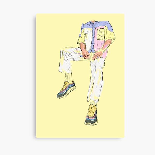 Nike Air Max - Yellow  Canvas Print
