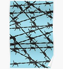 Barbed Wire [Light Blue] by Chillee Wilson Poster