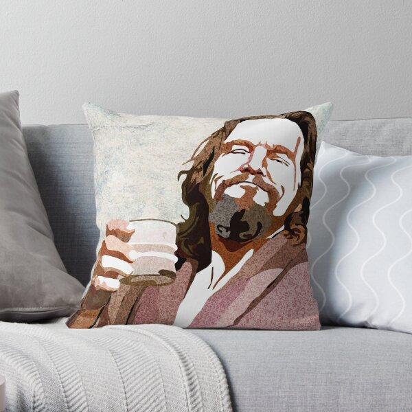 Big Lebowski DUDE Portrait Throw Pillow