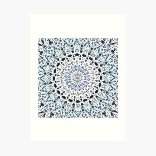 Ice Mandala Art Print