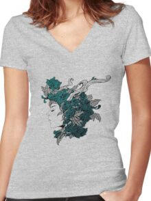 We Gathered in Spring Women's Fitted V-Neck T-Shirt