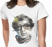 Woody Allen Black Portrait Design Womens Fitted T-Shirt