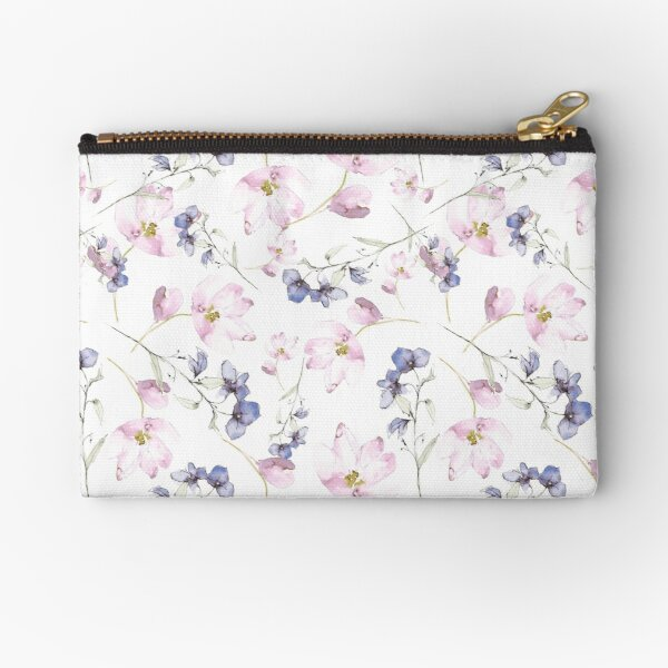watercolor flowers Zipper Pouch