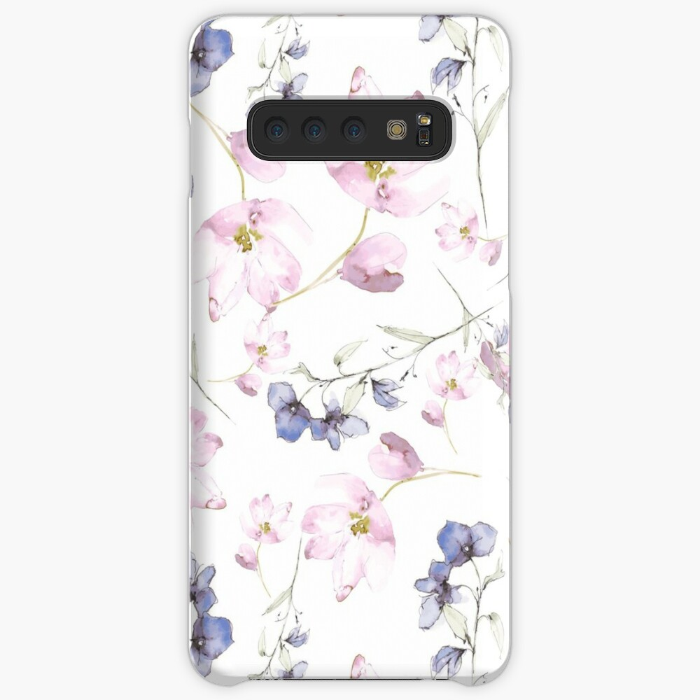 watercolor flowers Case & Skin for Samsung Galaxy