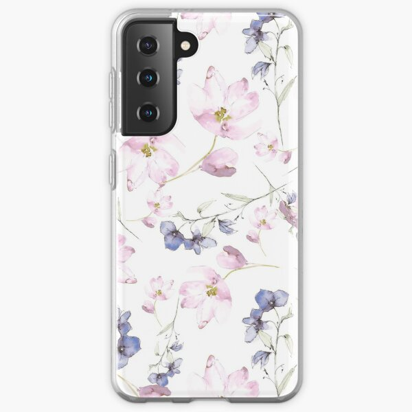 watercolor flowers Samsung Galaxy Soft Case