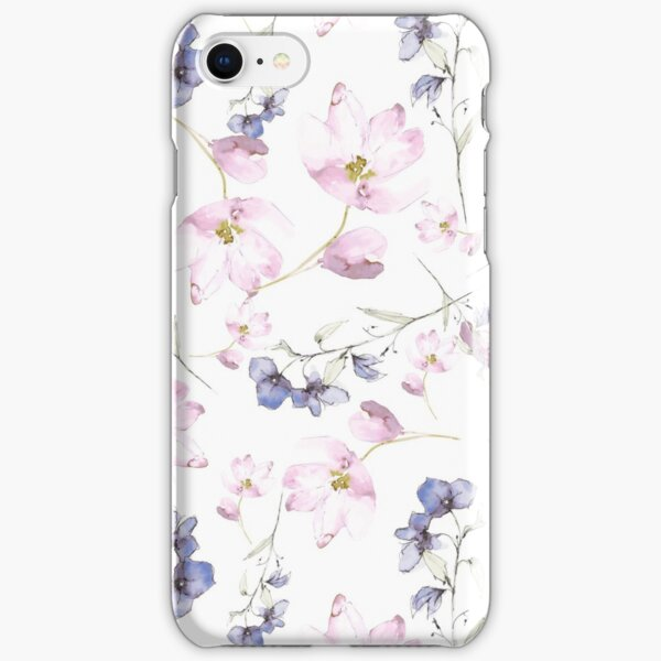 watercolor flowers iPhone Snap Case