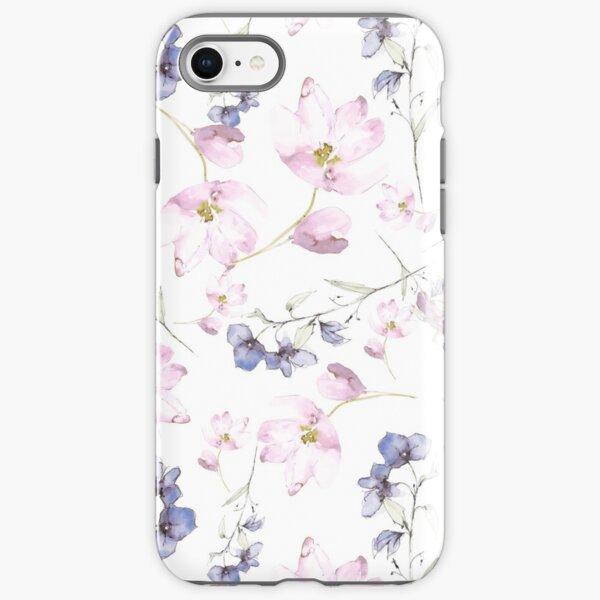 watercolor flowers iPhone Tough Case